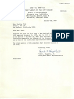 1967 Jan 12 Letter to Pauline Pink Accompanying the 1913 Pala Allotment Roll