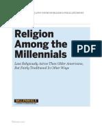 Religion among millennials