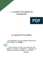 l Innovation Et La Gestion Du Changement