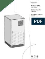 MGE GALAXY STS - Installation & User Manual