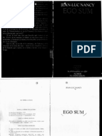Ego Sum -La Philosophie en Effet- Jean Luc Nancy