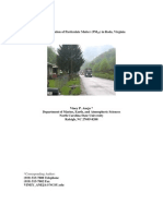 Characterization of Particulate Matter in Roda, Virginia