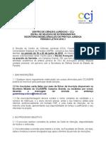 Edital de Seleção - Prática Jurídica no Serrotão