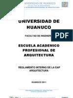 Reglamento EAP Arquitectura