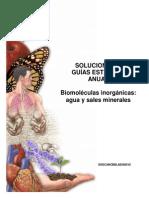 Solucionario Guía Biomoléculas inorgánicas agua y sales minerales