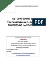 TRATAMIENTO NATURAL DEL AUMENTO DE TAMAÑO Y DE LA INFLAMACIÓN DE LA PRÓSTATA