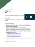 Modelo Carta Presentacion Proyecto Cofinanciacion