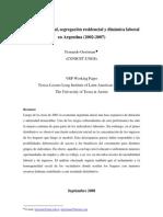 Aislamiento Social, Segregacion Residencial y Dinamica Laboral