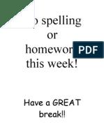 No Spelling