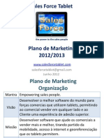 Sales Force Tablet - Plano de Marketing