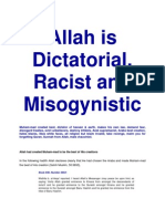 Allah is Dictatorial, Racist and Misogynistic