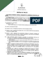 Ordem do Dia da Assembleia Municipal de Sintra de 21 de Junho de 2012
