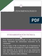 fenomenológico y analisis del discurso