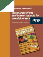 Metals Advantages Oxy Fuel Burner Systems Aluminium Recycling