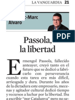 Francesc-Marc Álvaro. Passola, La Libertad