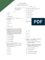 Prueba de Matematicas 2012 Jm