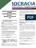 Barómetro Legislativo diario miércoles, 13 de junio de 2012