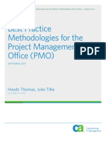 Best Practices Methodologies for the Project Management Office (PMO)