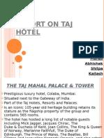 Report on Taj Hotel