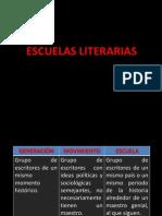 ESCUELAS LITERARIAS