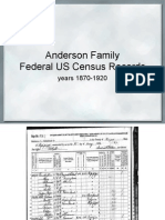 Anderson/Ward Family Federal US Census Records