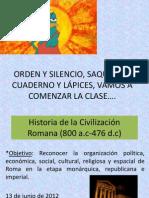 Historia de la Civilización Romana sesion 13 de junio