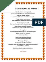 Poema de Un Hijo a Su Padre