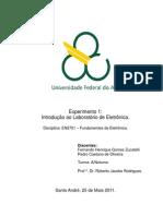 Relatório_Exp1_Introdução ao Laboratório de Eletrônica_Fundamentos de eletrônica_Trim3.2
