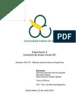 Relatório_Exp3_Constante de tempo circuito RC_Métodos Experimentais em Engenharia_Trim3.2