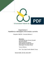 Relatório_Exp4_Impedância e defasagens entre tensão e corrente_Circuitos Elétricos 1_Trim3.2