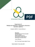 Relatório_Exp3_Medição de indutância e capacitância utilizando o transitório repetitivo_Circuitos Elétricos 1_Trim3.2