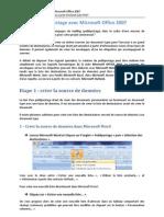Créer un publipostage avec Microsoft OFFICE 2007