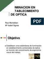 Iluminacion en Establecimiento de Optica