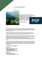 Reservas y Parques Ecologicos Del Ecuador