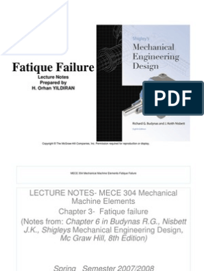 Fatique Lecture Notes Fatigue Material Ultimate Tensile Strength