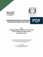 Resumen de Tesis La Agenda Digital de México en el contexto de la Sociedad de la Información en América Latina