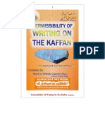 Permissibility of Writing on the Kaffan