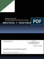 Anestesia y Miastenia Gravis