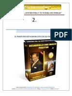 CAPITULO Nº 2 LA AUTOESTIMA Y TU FORMA DE PENSAR