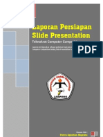 Laporan Persiapan Slide Presentation