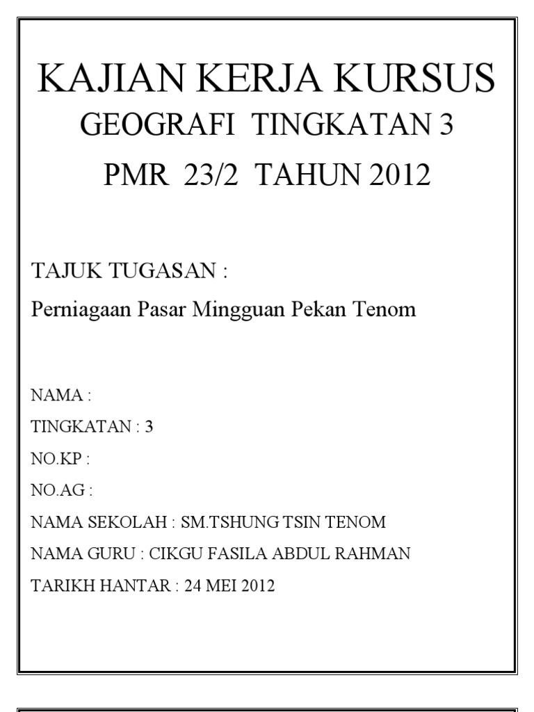 Contoh Jadual Kerja Kursus Geografi 2013 Mikonazol