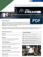 ProductSheet HeadEnd HttvStream HbbTV
