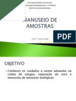 5. Manuseio de Amostras