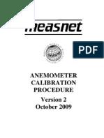 Measnet Anemometer Calibration v2 Oct 2009