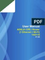 User Manual - TAD110(排版)