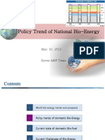 Policy Trend of National Bioenergy