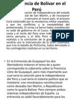 La presencia de Bolívar en el Perú