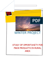 Study of Opportunity for Fmcg Products in Rural Market