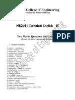 HS2161 Technical English – II