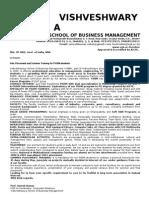 VSBM Business Instt. Bief
